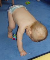 O que é o dns - parte 2: Bebê na posição do urso - 11 meses.
