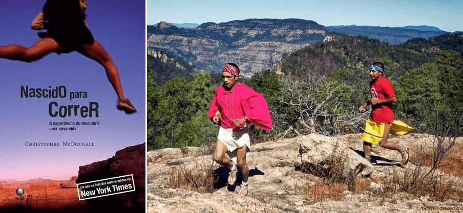 """Corredores Tarahumara, retratados no livro """"Nascido para Correr""""."""