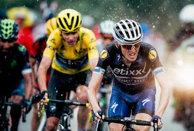 Ciclistas no Tour de France.