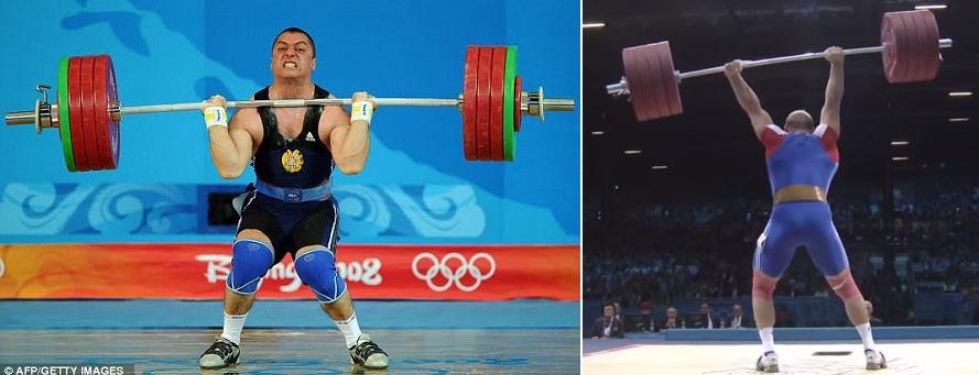 Levantamento de peso olímpico - tensão da carga.
