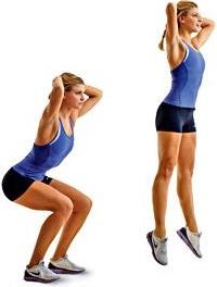 Circuito de pernas - agachamento com salto
