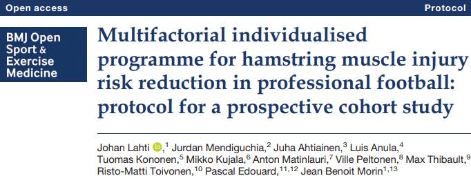 Prevenção de lesões nos isquiotibiais: Artigo de Lahti et al. 2020.