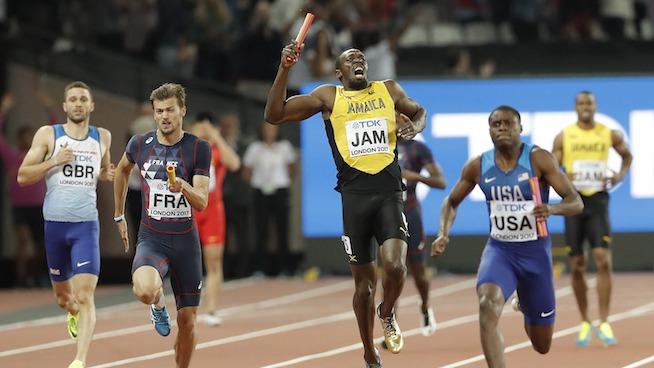 Prevenção de lesões nos isquiotibiais: Lesão nos isquiotibiais de Usain Bolt.