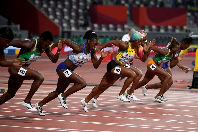 Mecânica da Aceleração 100m feminino
