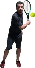 Backhand - pés paralelos